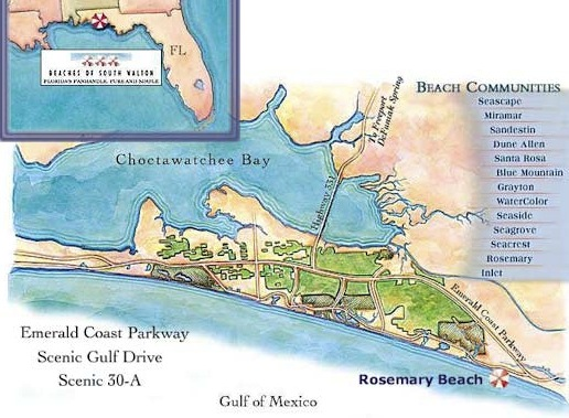 McAlpine Journal: Architect in 30A map