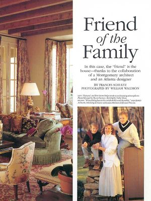 McAlpine Media: Friend of the Family Article